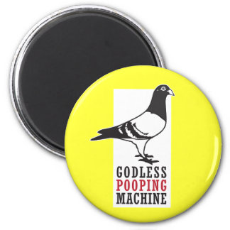 Godless Pooping Machine 6 Cm Round Magnet