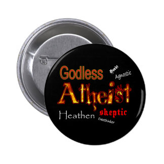 Godless Words 6 Cm Round Badge