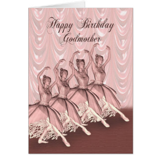 Godmother, a ballerina birthday card