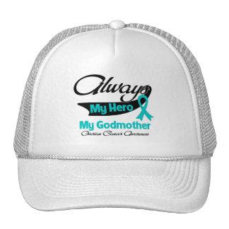 Godmother - Always My Hero - Ovarian Cancer Cap