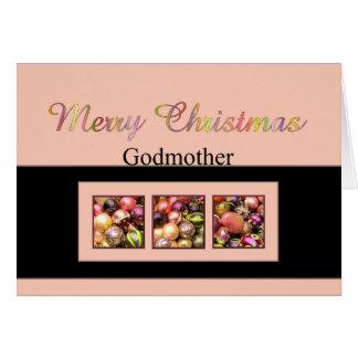 godmother Merry Christmas card