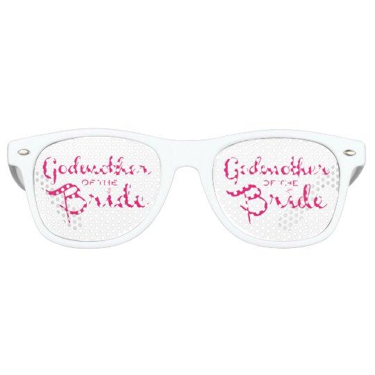 Godmother of Bride Pink Retro Sunglasses