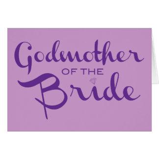 Godmother of Bride Purple on Purple Card