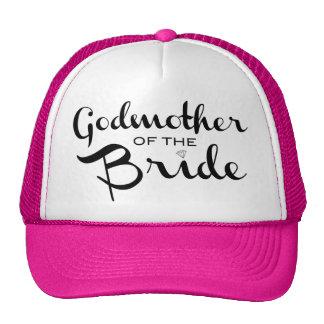 Godmother of Bride Trucker Hat Black Mesh Hat