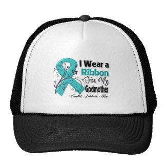 Godmother - Ovarian Cancer Ribbon Mesh Hat