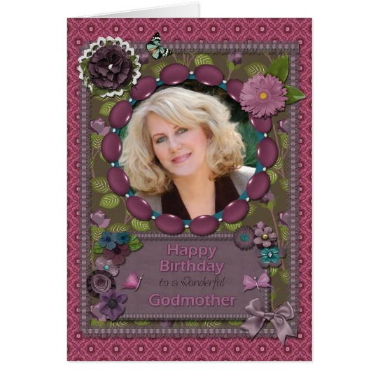 Godmother, Photo card for a birthday