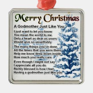 Godmother poem - christmas design christmas ornament