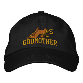 Godmother Retro Shoe Embroidered Hat