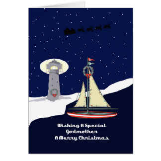 Godmother Sailboat Christmas Greeting Card