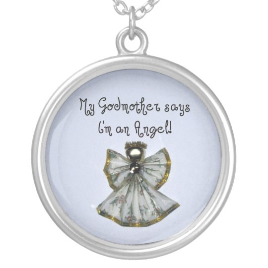 Godmother Silver Plated Necklace
