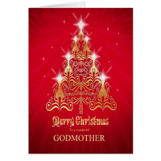 Godmother, Stylized Christmas tree Christmas card