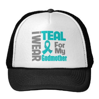 Godmother - Teal Ribbon Ovarian Cancer Support Cap
