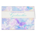 Godmother Thank You Pastel Butterflies Greeting Card