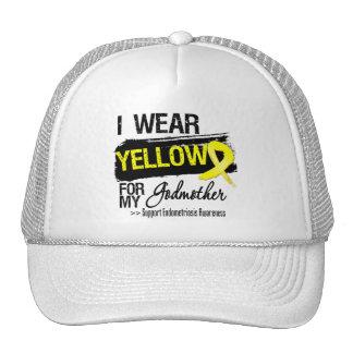 Godmother Yellow Ribbon Endometriosis Mesh Hat