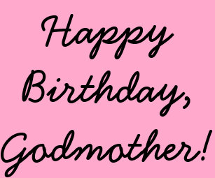 Godmothers Birthday Black On Pink Gift Wrap Wrapping Paper