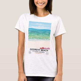 Godrevy Beach St Ives Bay, Cornwall travel poster T-Shirt