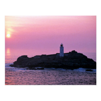 Godrevy Lighthouse at the Cornish Riviera Postcard