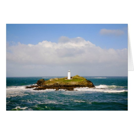 Godrevy Lighthouse, St.Ives Bay, Cornwall Card