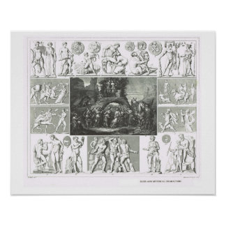 Gods and mythical characters poster