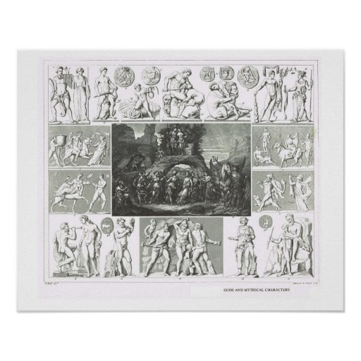 Gods and mythical characters posters