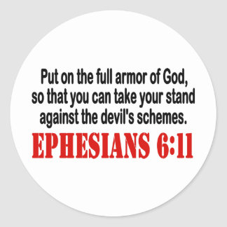 God's Armor Round Sticker