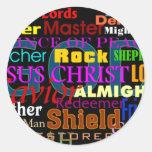 God's Attributes Classic Round Sticker