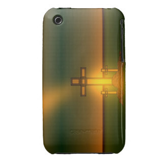 God's Aura Light over the Cross of Christ iPhone iPhone 3 Covers