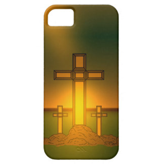 God's Aura Light over the Cross of Christ iPhone iPhone 5 Cases