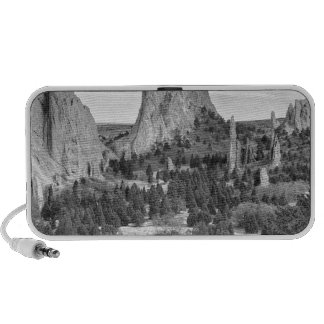 Gods Colorado Garden In Black and White Mp3 Speaker
