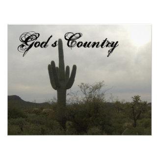 Gods country custom invitations