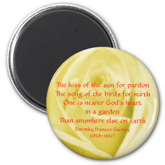 God's Garden Poem - magnet
