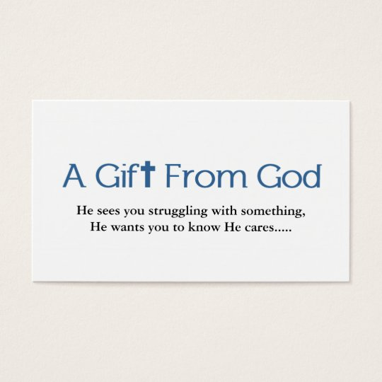 Gods Gift Business Card