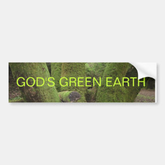 GOD'S GREEN EARTH BUMPER STICKER