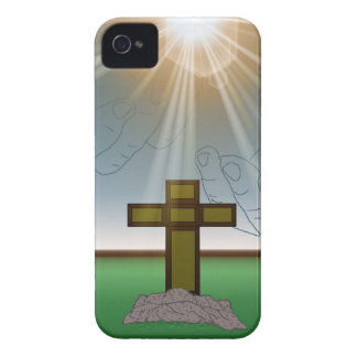 God's Hand's over the Cross of Christ Blackberry iPhone 4 Cover