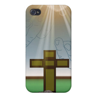 God's Hand's over the Cross of Christ iPhone Case Case For The iPhone 4