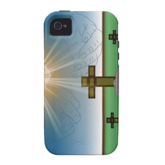 God's Hand's over the Cross of Christ iPhone Case Case-Mate iPhone 4 Cases