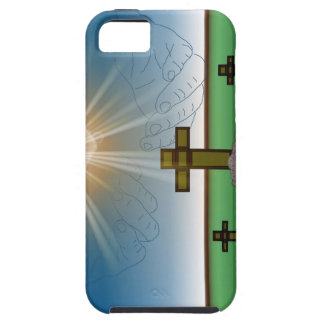 God's Hand's over the Cross of Christ iPhone Case Case For The iPhone 5