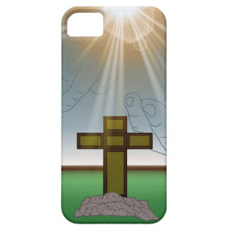 God's Hand's over the Cross of Christ iPhone Case iPhone 5 Covers