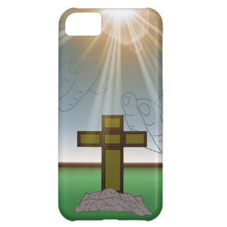 God's Hand's over the Cross of Christ iPhone Case iPhone 5C Case