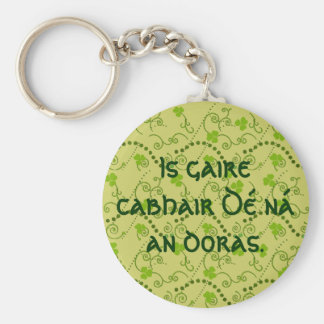 God's Help Is Nearer Than the Door Basic Round Button Key Ring
