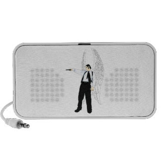 God's Hitman Angel With a Pistol Mini Speakers