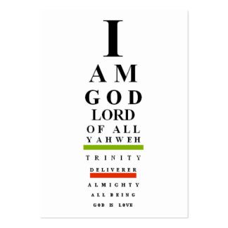 God's I Chart (bookmark) Pack Of Chubby Business Cards