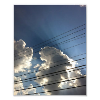God's Lines in the Sky Photo Print