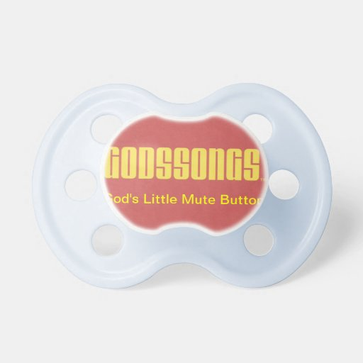 God's Little Mute Button Boy's Baby Pacifier