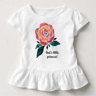 God's Little Princess Modern Toddler Ruffle Tee