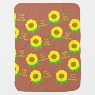 God's Little Sunflowers Baby Blanket