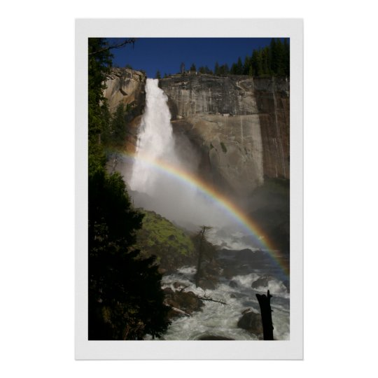 God's Masterpiece Vernal Falls Rainbow Poster