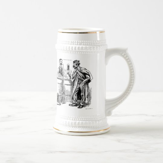 God's Nectar Vintage Caricature Beer Mug Stein!!