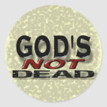 """""""God's not dead"""" Round Sticker"""