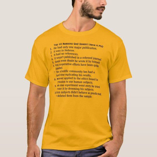 God's PhD T-Shirt